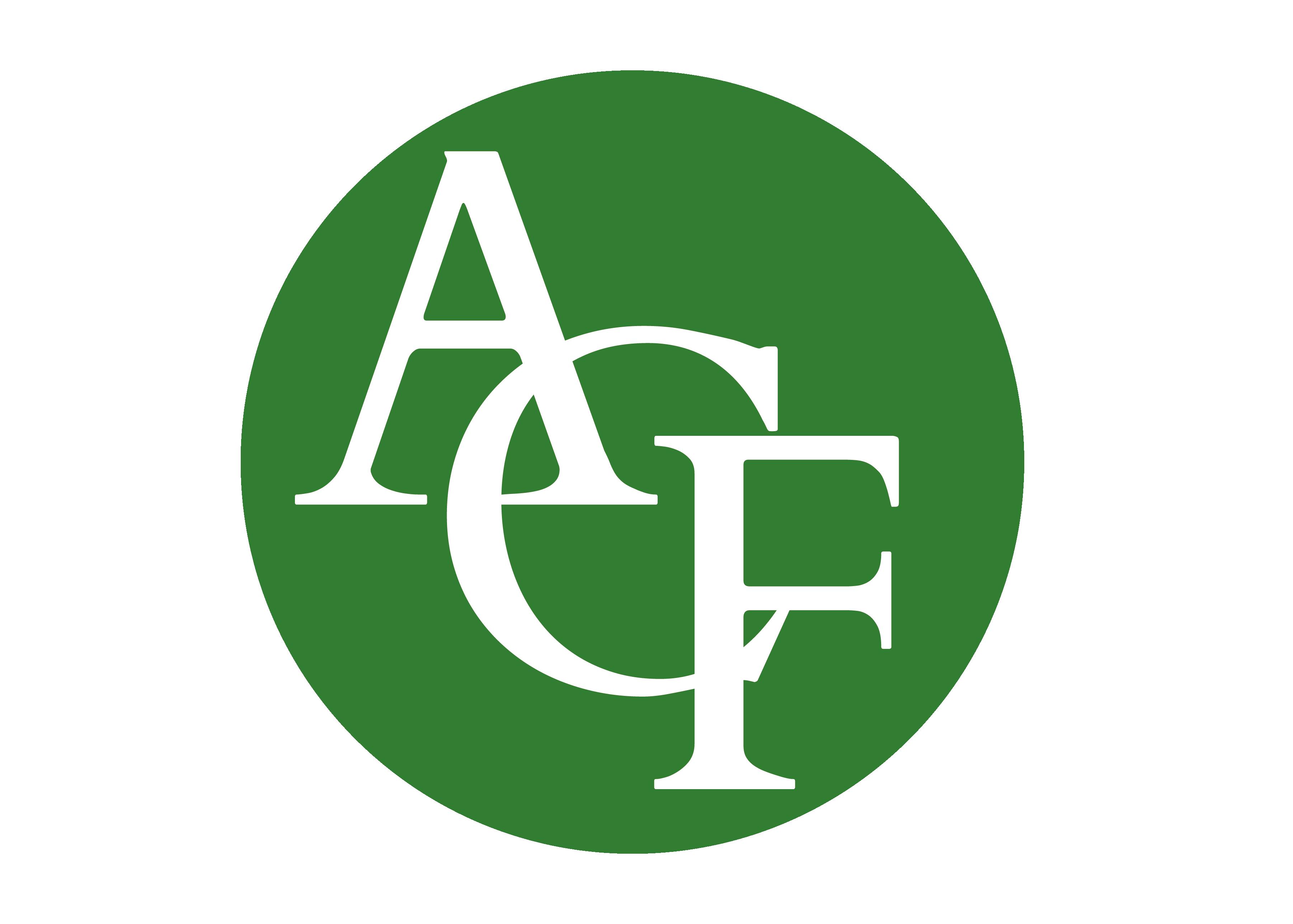 Logo ACF cerchio verde - Logo ACF cerchio verde
